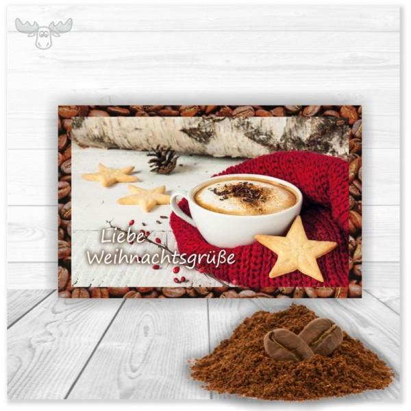 Weihnachtskarten mit Kaffee | Cappuccino-Karte