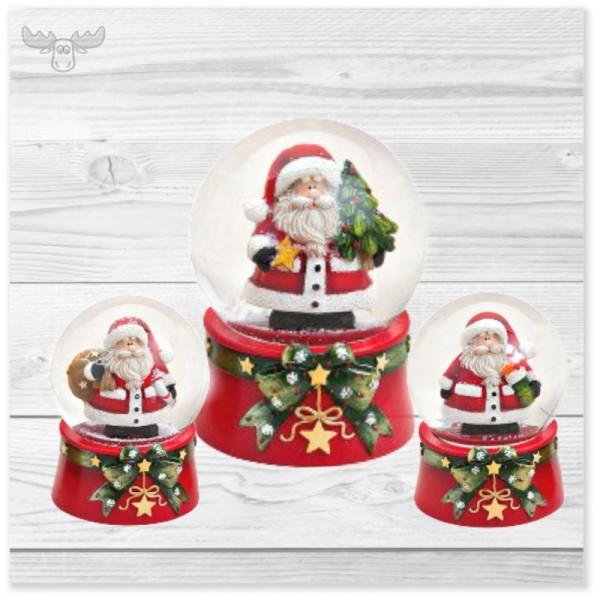 3er-Set Schneekugeln Weihnachtsmann - Werbeartikel zu Weihnachten