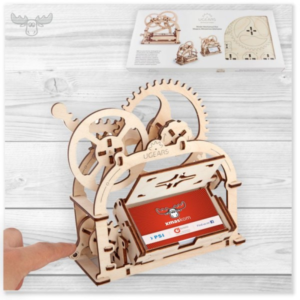 3D Holzpuzzle mechanisch | Visitenkartenschatulle Holzpuzzle kaufen