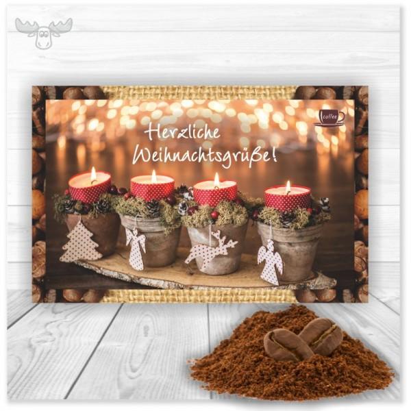 Kaffeekarte *Herzliche Weihnachtsgrüße*