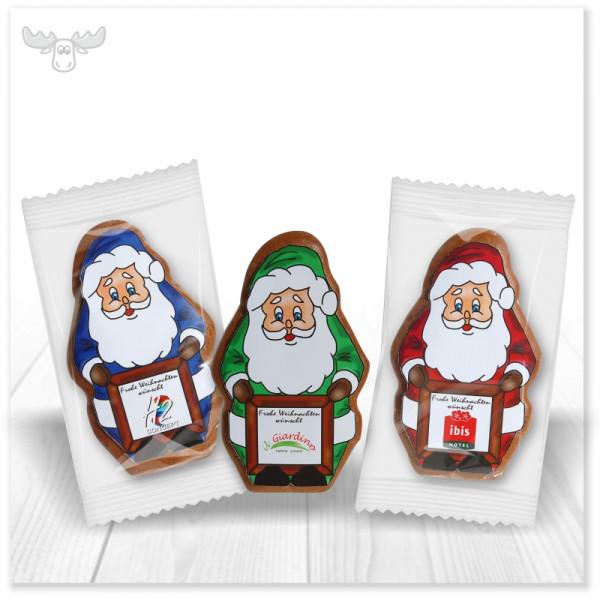 Lebkuchen Weihnachtsmann mit Papieraufleger-vollständig individualisierbar