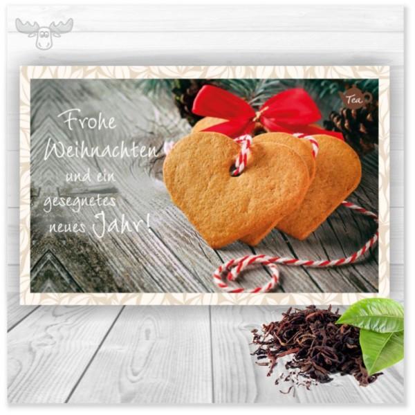 Teekarte Herzen für den herzlichen Gruß an Ihre Kunden