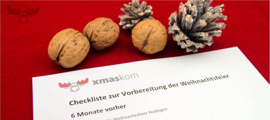 Checkliste für die betriebliche Weihnachtsfeier