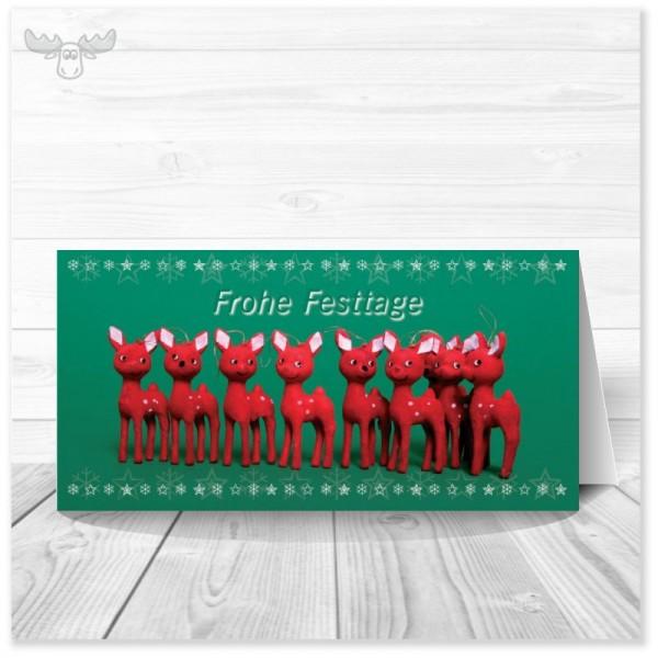 Weihnachtskarten für Kunden - Motiv: Rehlein - online kaufen