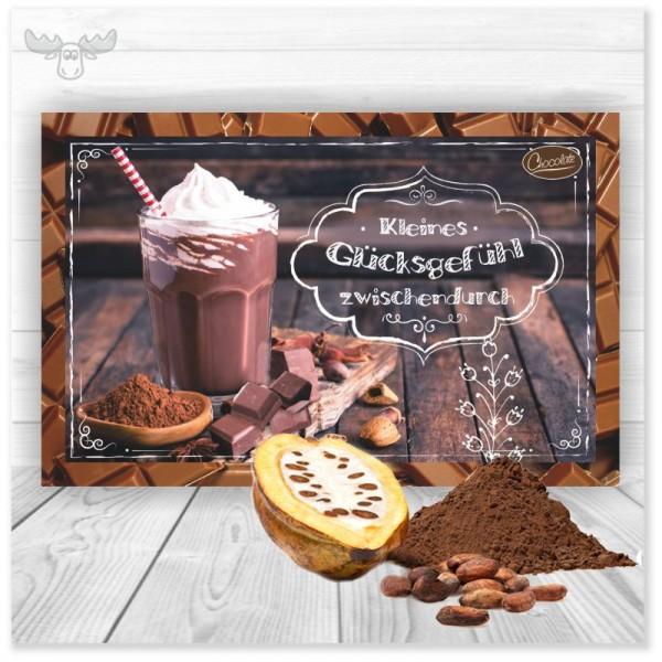 Postkarte mit Kakao-Pulver zu Weihnachten
