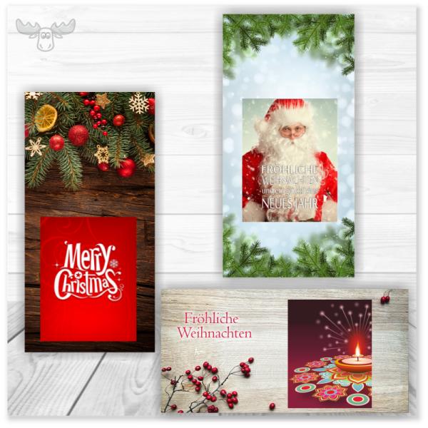 Weihnachtskarten mit Zündhölzern fürs Weihnachtsmailing