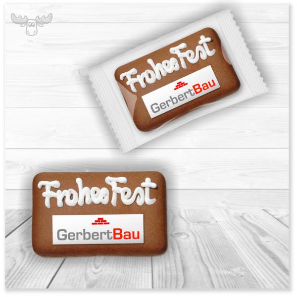 Weihnachts-Lebkuchen mit Ihrem Firmen-Logo