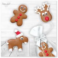 Lustige Lebkuchenfiguren zu Weihnachten