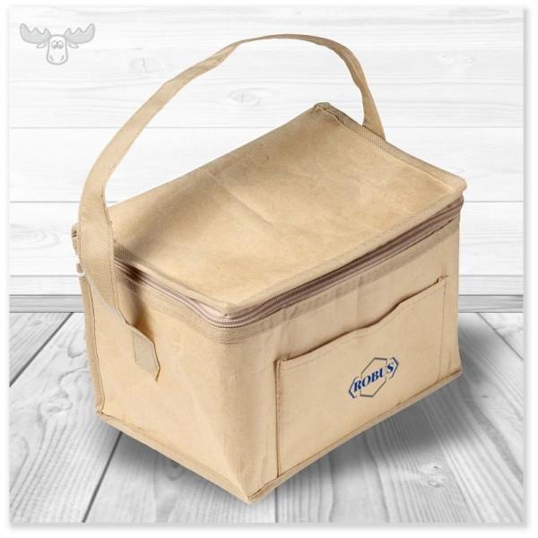 Handliche Kühltasche für den Kurztrip. Ideal für Six-Pack Bierdosen.