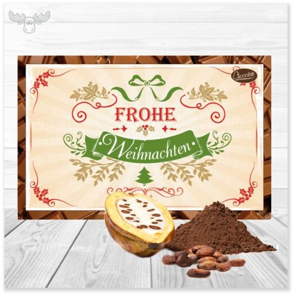 Weihnachtskarte Frohe Weihnachten mit Kakao
