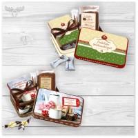Kunden-Präsentset mit Kaffee und Mini-Weihnachtsbuch