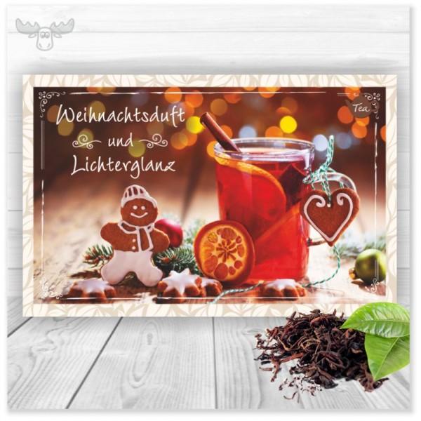 Teekarte Weihnachtsduft und Lichterglanz für Ihr Weihnachtsmailing