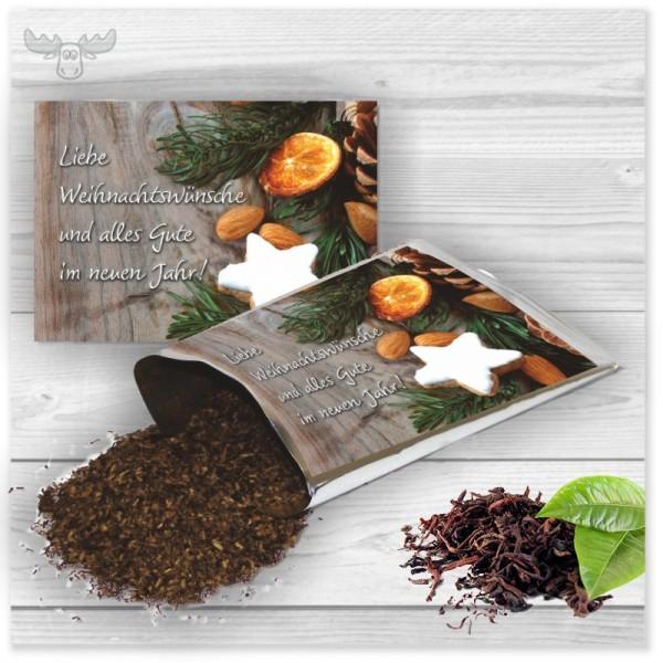 Teekarte Zimtstern für Ihr Weihnachtsmailing an Ihre Kunden