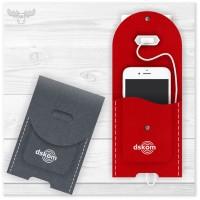 Handy-Ladetasche Filz | Ladestation für Handys