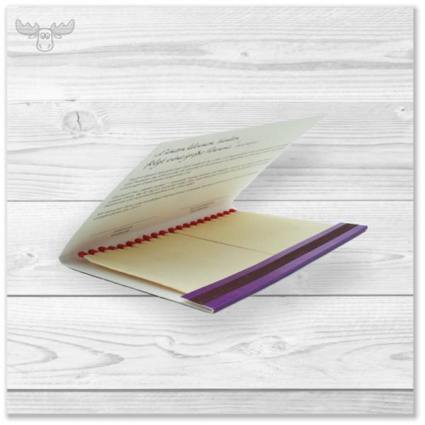 Weihnachtskarte mit Zündhölzern für Ihr Mailing