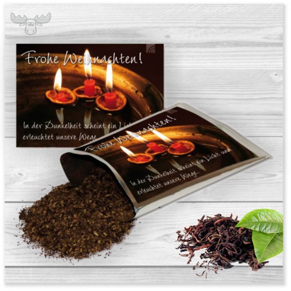 Weihnachtskarten mit Tee | Weihnachtsgeschenke Kunden