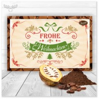 Kakaokarte Frohe Weihnachten