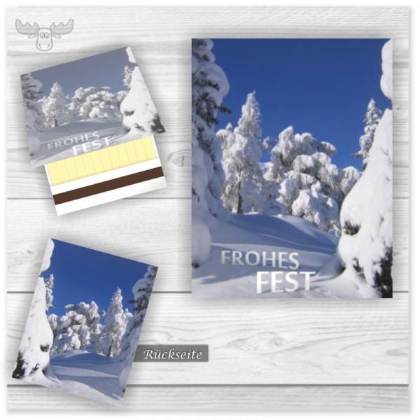 Streichhölzer mit Schneelandschaft - Frohes Fest
