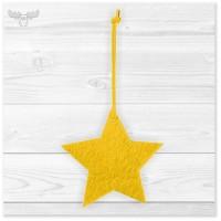 Einfacher Weihnachtsbaumschmuck Filz - Gelber Stern