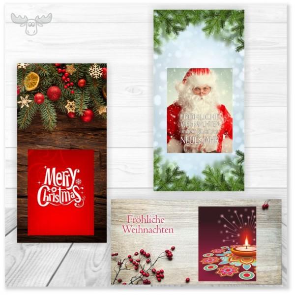 Weihnachtskarten mit Zündhölzern online bestellen