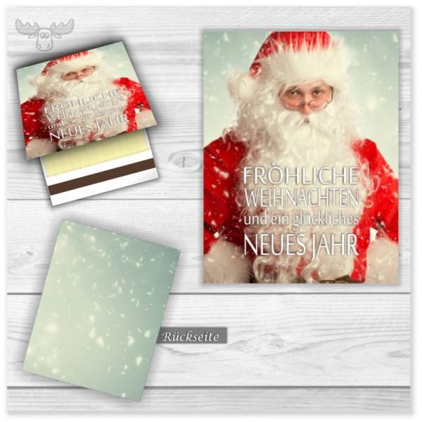 Streichhölzer mit Motiv Santa: Fröhliche Weihnachten