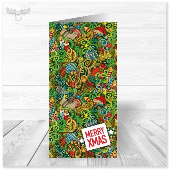 Weihnachtskarte Christmas-Jungle Merry xmas für die geschäftliche Weihnachtspost