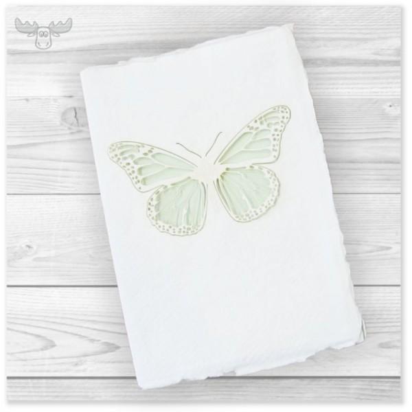 Büttenkarte A6 - Motiv: Schmetterling