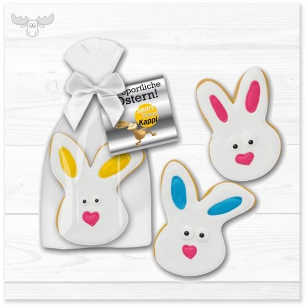Osterhasen-Cookies mit Grußkarte