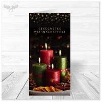 Weihnachtskarte mit Motiv Adventskranz