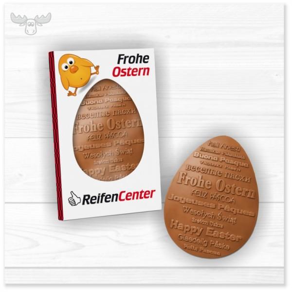 Schokoladen-Osterei in individualisierbarem Schmuckkarton