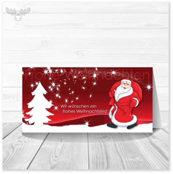 Weihnachtskarte mit Motiv Weihnachtsmann