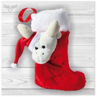 Nikolaussocke aus Plüsch für Kids, Mitarbeiter, Kunden