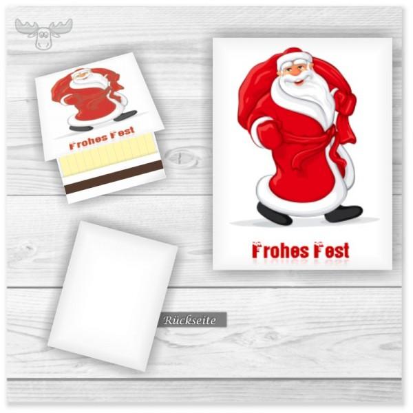 Streichhölzer mit Weihnachtsmann - Frohes Fest