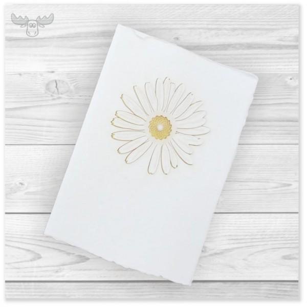 Büttenkarte A6 mit B6-Umschlag - Motiv: Blume